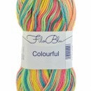 Fir de tricotat sau crosetat - Fire tip mohair din poliester Filo Blu - Colourful - 05 DEGRADE