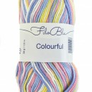 Fir de tricotat sau crosetat - Fire tip mohair din poliester Filo Blu - Colourful - 04 DEGRADE