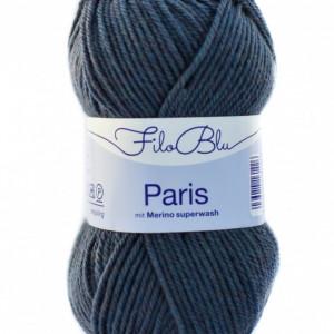 Fir de tricotat sau crosetat - Fire tip mohair din poliester Filo Blu - PARIS - 06 - GRI PETROL