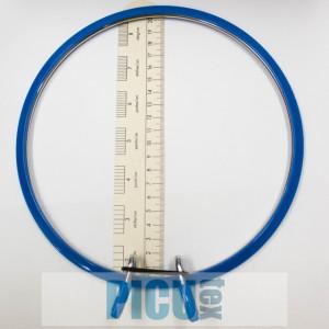 Gherghef rotund cu arc de meta albastru mare