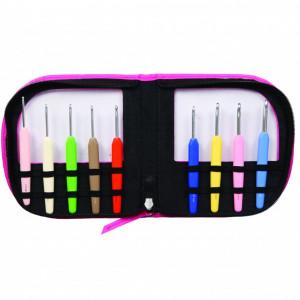 KnitPro Waves - set crosete un singur capat si maner ergonomic