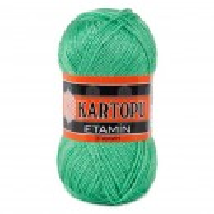 Fir de tricotat,brodat sau crosetat - Fir KARTOPU ETAMIN VERDE 437
