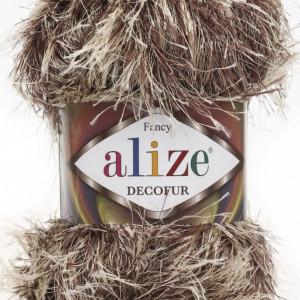 Fir de tricotat sau crosetat - FANCY - ALIZE DECOFUR BEJ + MARO 1367