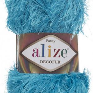 Fir de tricotat sau crosetat - FANCY - ALIZE DECOFUR TURQUAZ 245