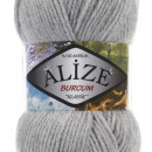 Fir de tricotat sau crosetat - Fir ACRILIC ALIZE BURCUM KLASIK GRI 21