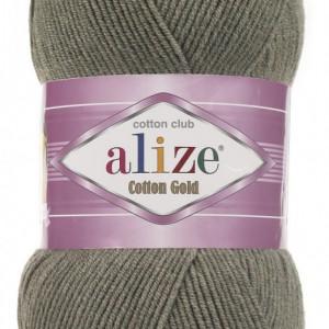 Fir de tricotat sau crosetat - Fir ALIZE COTTON GOLD KAKI MELANJ 270