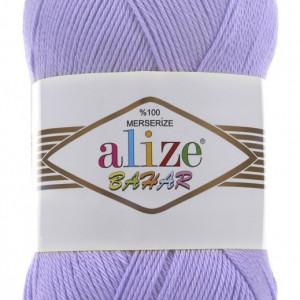 Fir de tricotat sau crosetat - Fir BUMBAC 100% ALIZE BAHAR LILA 65