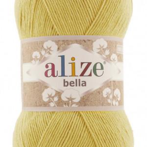 Fir de tricotat sau crosetat - Fir BUMBAC 100% ALIZE BELLA 100 - GALBEN 110