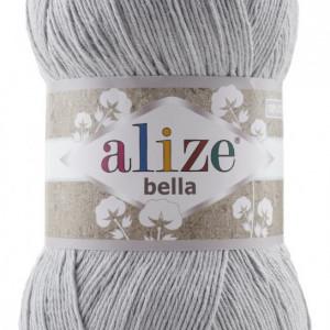 Fir de tricotat sau crosetat - Fir BUMBAC 100% ALIZE BELLA 100 - GRI 21