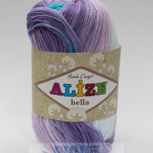 Fir de tricotat sau crosetat - Fir BUMBAC 100% ALIZE BELLA BATIK 3677
