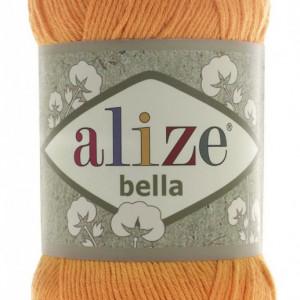 Fir de tricotat sau crosetat - Fir BUMBAC 100% ALIZE BELLA - PORTOCALIU 83
