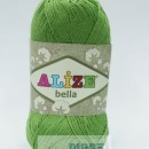 Fir de tricotat sau crosetat - Fir BUMBAC 100% ALIZE BELLA - VERDE 492