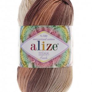 Fir de tricotat sau crosetat - Fir BUMBAC 100% ALIZE MISS BATIK DEGRADE 3723