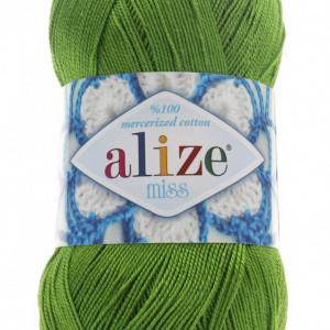 Fir de tricotat sau crosetat - Fir BUMBAC 100% ALIZE MISS VERDE 479