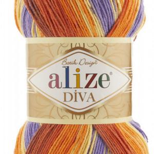 Fir de tricotat sau crosetat - Fir microfibra ALIZE DIVA BATIK DEGRADE 7398