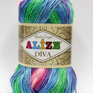 Fir de tricotat sau crosetat - Fir microfibra ALIZE DIVA BATIK DEGRADE 4537