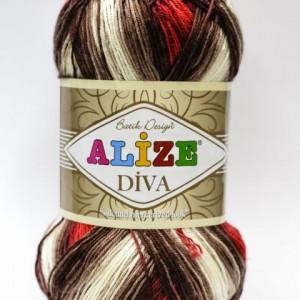 Fir de tricotat sau crosetat - Fir microfibra ALIZE DIVA BATIK DEGRADE 4574