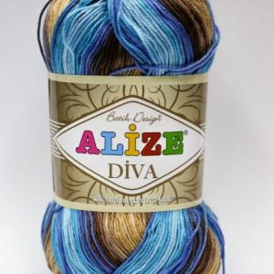 Fir de tricotat sau crosetat - Fir microfibra ALIZE DIVA BATIK DEGRADE 3243