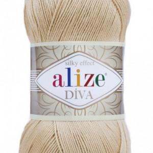 Fir de tricotat sau crosetat - Fir microfibra ALIZE DIVA BEJ 368