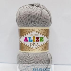 Fir de tricotat sau crosetat - Fir microfibra ALIZE DIVA GRI 355