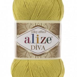 Fir de tricotat sau crosetat - Fir microfibra ALIZE DIVA LIME 109