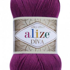 Fir de tricotat sau crosetat - Fir microfibra ALIZE DIVA MOV 297