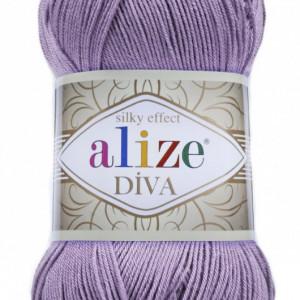 Fir de tricotat sau crosetat - Fir microfibra ALIZE DIVA MOV 622
