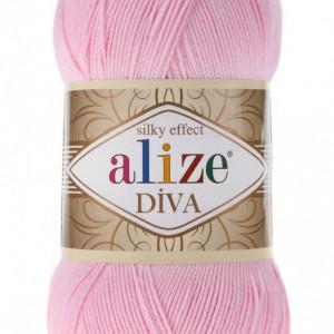 Fir de tricotat sau crosetat - Fir microfibra ALIZE DIVA ROZ 291