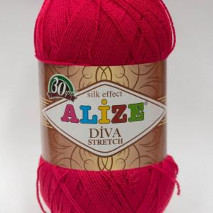 Fir de tricotat sau crosetat - Fir microfibra ALIZE DIVA STRETCH ROZ 396