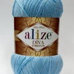 Fir de tricotat sau crosetat - Fir microfibra ALIZE DIVA STRETCH ALBASTRU 350