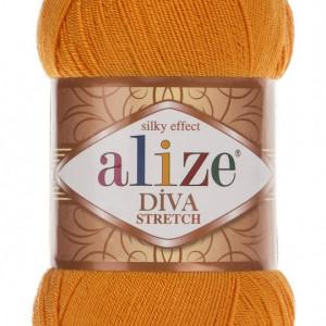 Fir de tricotat sau crosetat - Fir microfibra ALIZE DIVA STRETCH PORTOCALIU 83