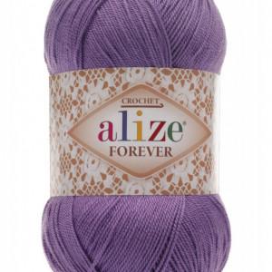 Fir de tricotat sau crosetat - Fir microfibra ALIZE FOREVER MOV 622