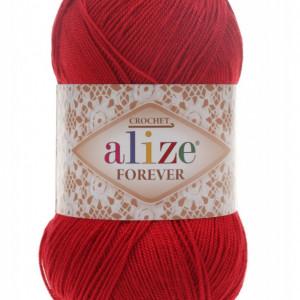 Fir de tricotat sau crosetat - Fir microfibra ALIZE FOREVER ROSU 106