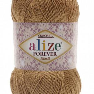 Fir de tricotat sau crosetat - Fir microfibra ALIZE FOREVER SIMLI BEJ 298