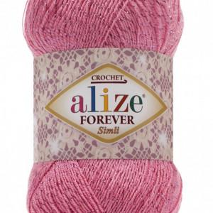 Fir de tricotat sau crosetat - Fir microfibra ALIZE FOREVER SIMLI ROZ 39