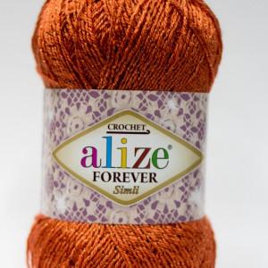 Fir de tricotat sau crosetat - Fir microfibra ALIZE FOREVER SIMLI PORTOCALIU 37