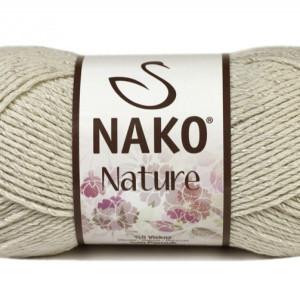 Fir de tricotat sau crosetat - Fire amestec Bumbac + Acril + Vascoza NAKO NATURE Gri 10544