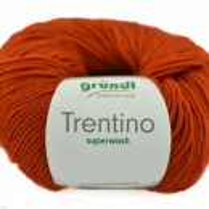 Fir de tricotat sau crosetat - Fire din lana 100% Grundl Trentino -Rosu 07