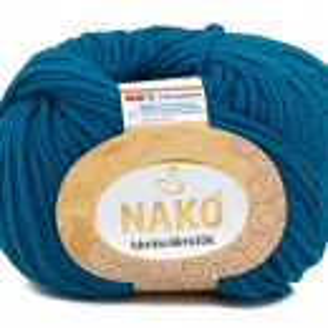 Fir de tricotat sau crosetat - Fire din lana 100% Nako Merino Blend DK - ALBASTRU 10328