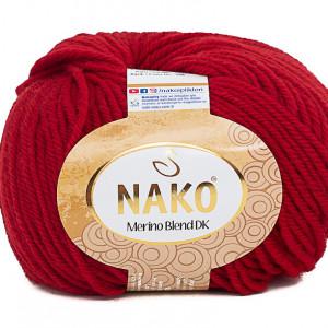 Fir de tricotat sau crosetat - Fire din lana 100% Nako Merino Blend DK - ROSU COD 298