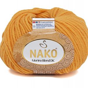 Fir de tricotat sau crosetat - Fire din lana 100% Nako Merino Blend DK - GALBEN COD 3416