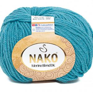 Fir de tricotat sau crosetat - Fire din lana 100% Nako Merino Blend DK - TURQUAZ COD 10608