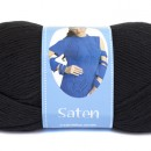 Fir de tricotat sau crosetat - Fire Nako SATEN NEGRU 217