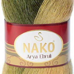 Fir de tricotat sau crosetat - Fire tip mohair acril NAKO ARYA EBRULI DEGRADE 86409