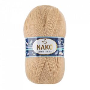 Fir de tricotat sau crosetat - Fire tip mohair acril NAKO MOHAIR DELICATE - BEJ COD 6104
