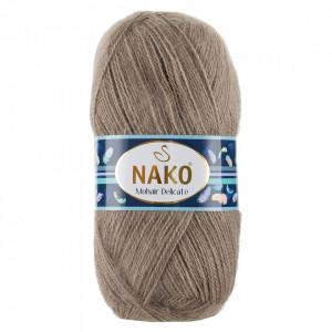 Fir de tricotat sau crosetat - Fire tip mohair acril NAKO MOHAIR DELICATE - BEJ COD 6139
