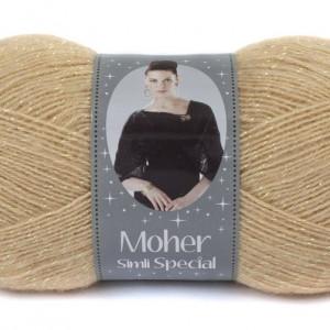 Fir de tricotat sau crosetat - Fire tip mohair acril NAKO MOHER SIMLI SPECIAL BEJ 219SE