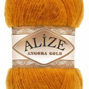 Fir de tricotat sau crosetat - Fire tip mohair din acril Alize Angora Gold Bej 234
