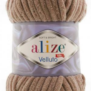 Fir de tricotat sau crosetat - Fire tip mohair din acril ALIZE VELLUTO BEJ 329