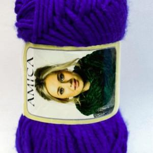Fir de tricotat sau crosetat - Fire tip mohair din acril AMICA ALBASTRU - 338